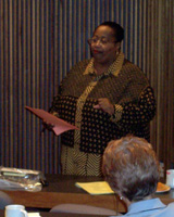 Speaking to a group